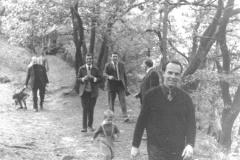 1964 Wanderung zur Teufelsmauer mit Pfarrer Krause